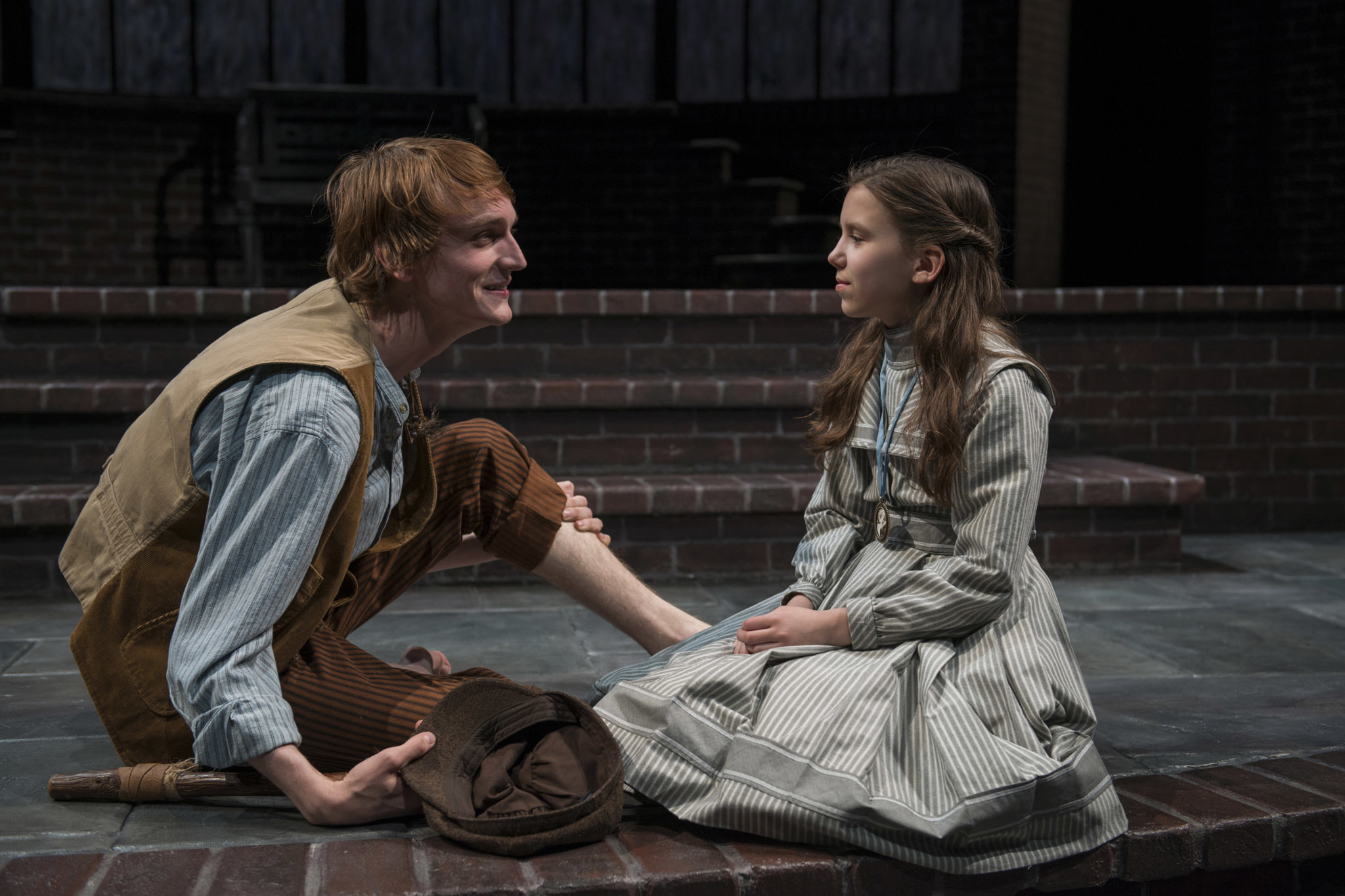 Aubrey McGrath and Tori Whaples in The Secret Garden at Court Theatre