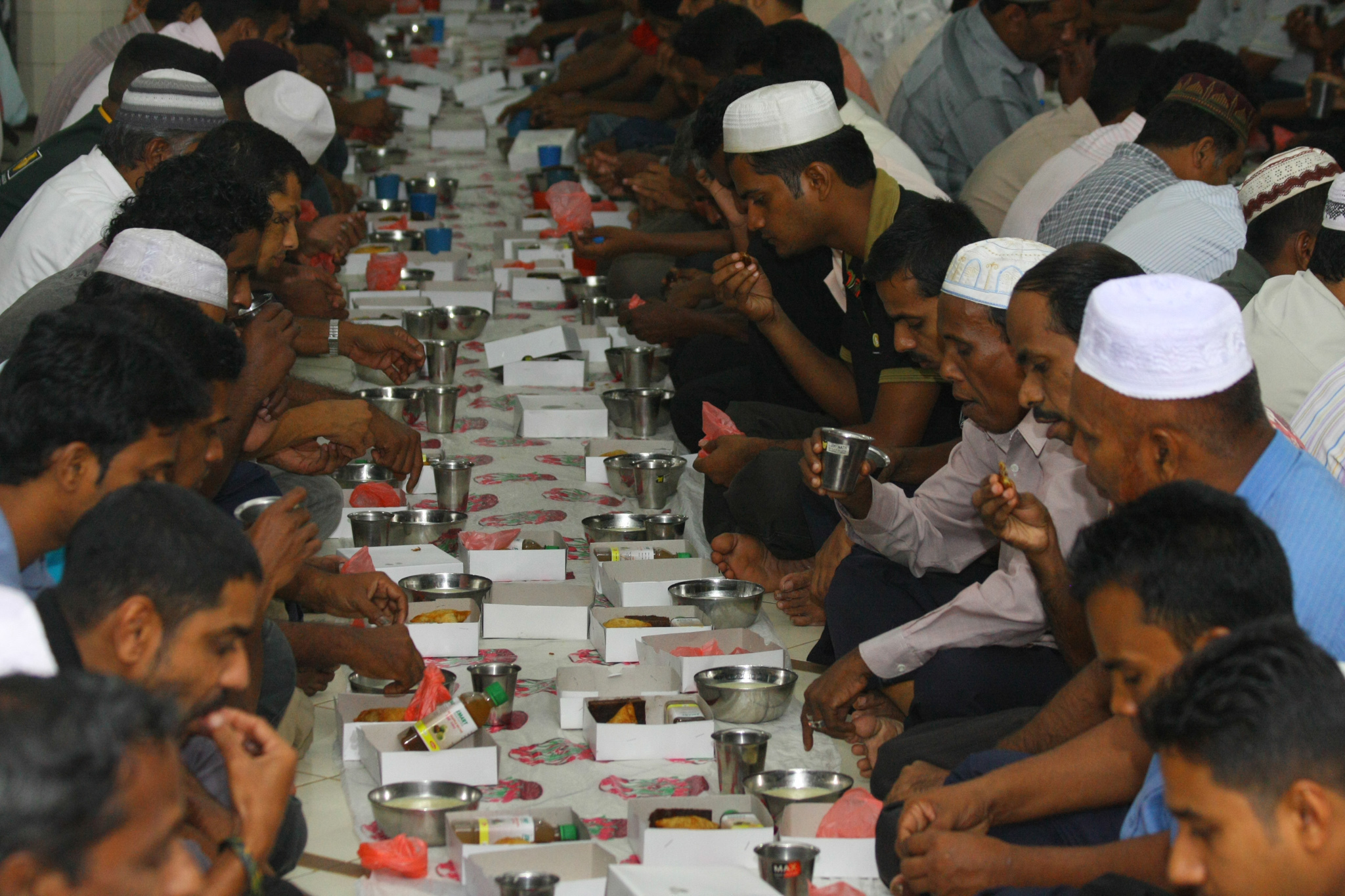 Breaking fast at a mosque