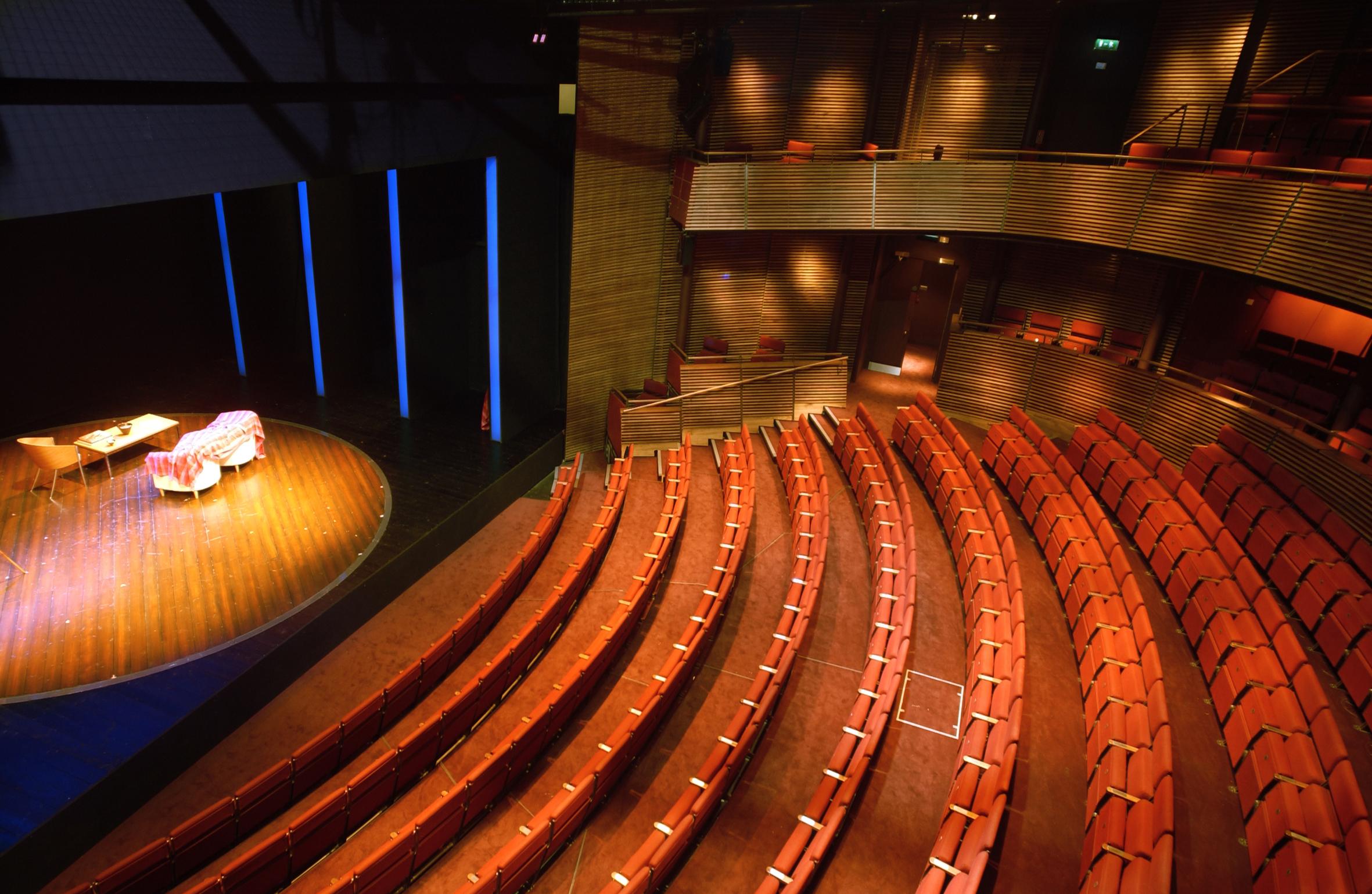 The Hampstead Theatre auditorium