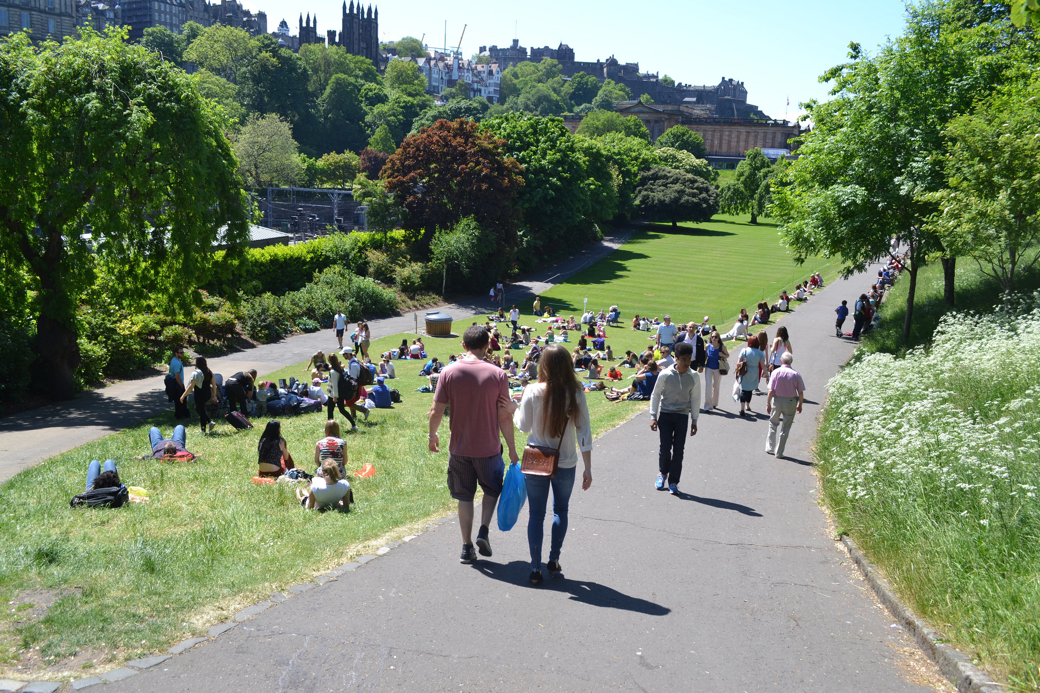 Relax in one of the city's green (or sandy) spaces