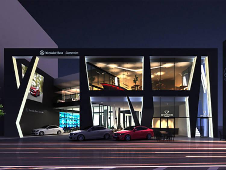 Lounge among luxury cars