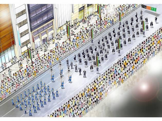 歌舞伎座新開場記念 銀座・春のパレード GINZA 花道