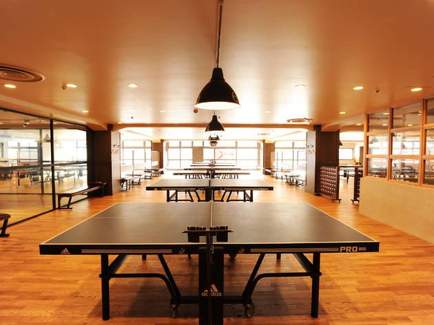 卓球は渋谷でする。