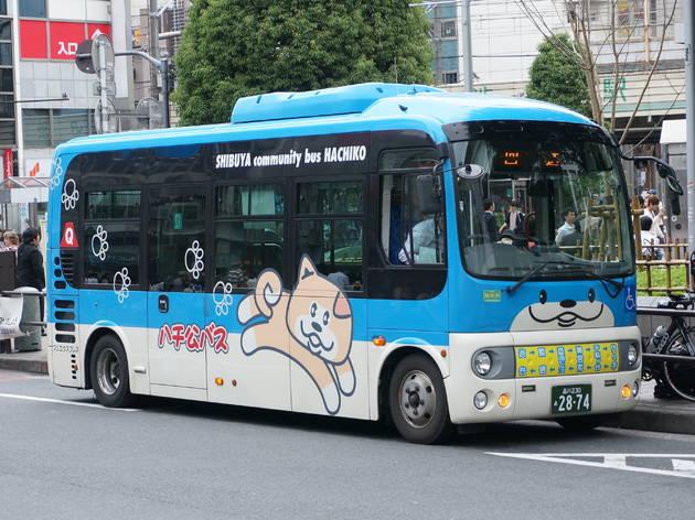 スローなミニバスで渋谷を探索する。