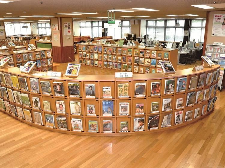 都立多摩図書館マガジンバンク