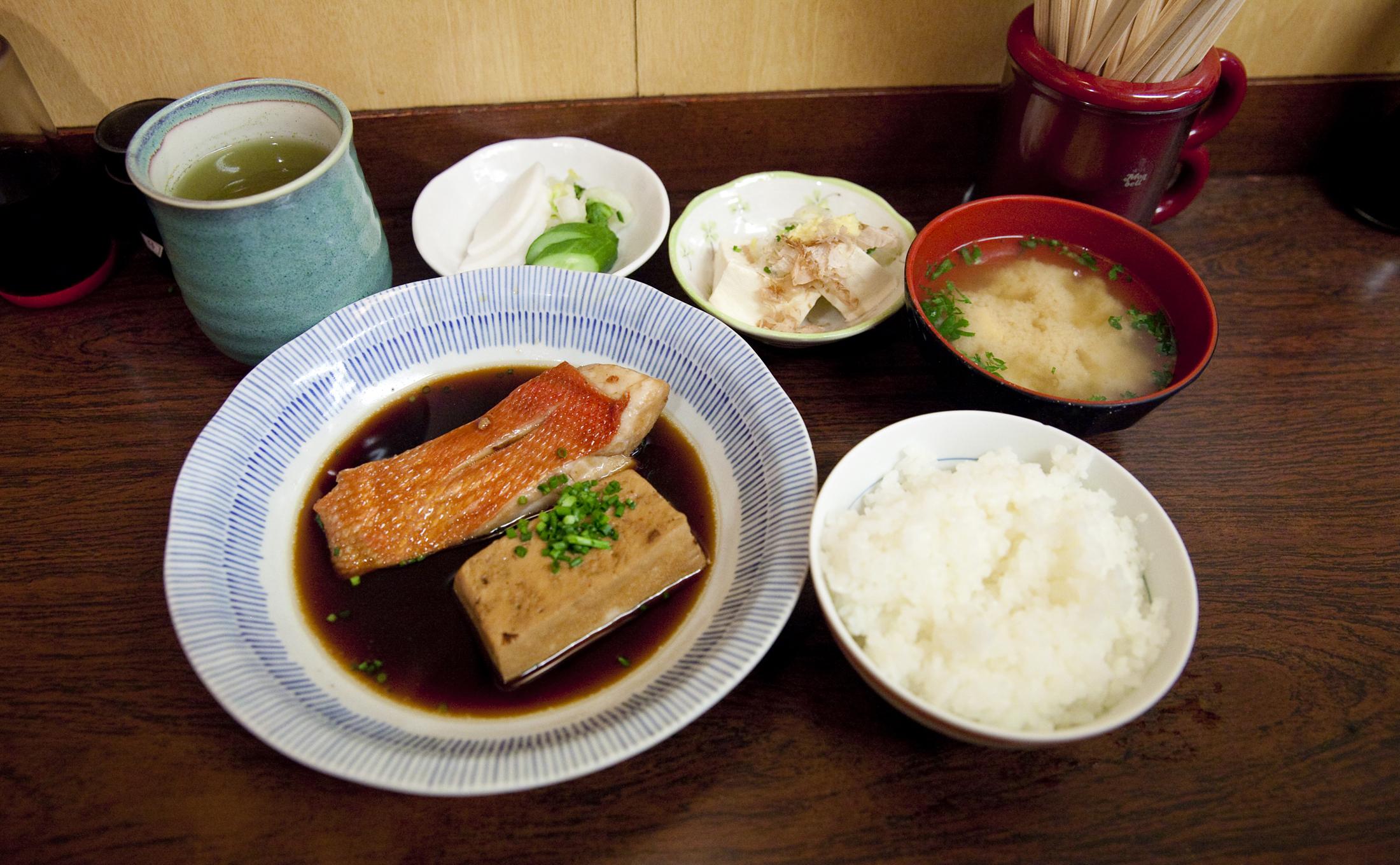 和食かとう『金目鯛煮付け』