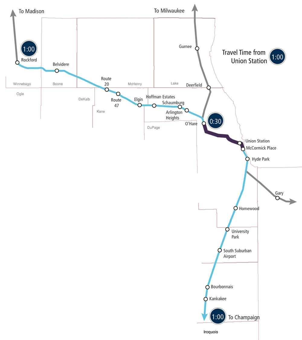 The proposed building of midwest high speed rail