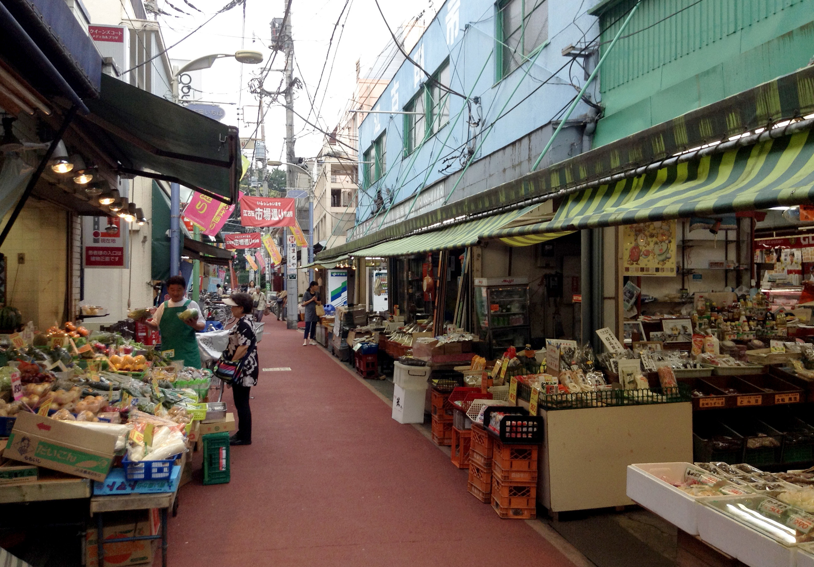 Shop at an old-school market...