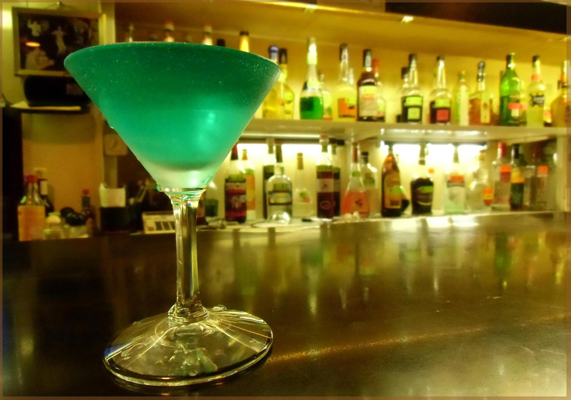 Down a drink at Ekoda Konpa