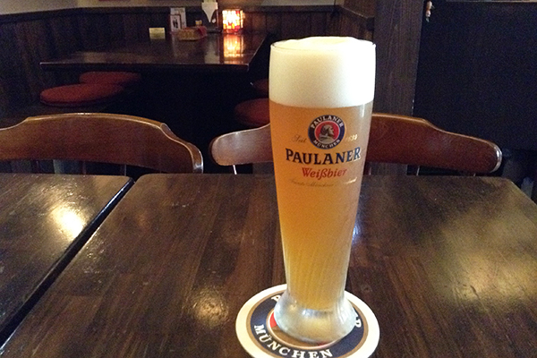 Down a weissbier at Prost
