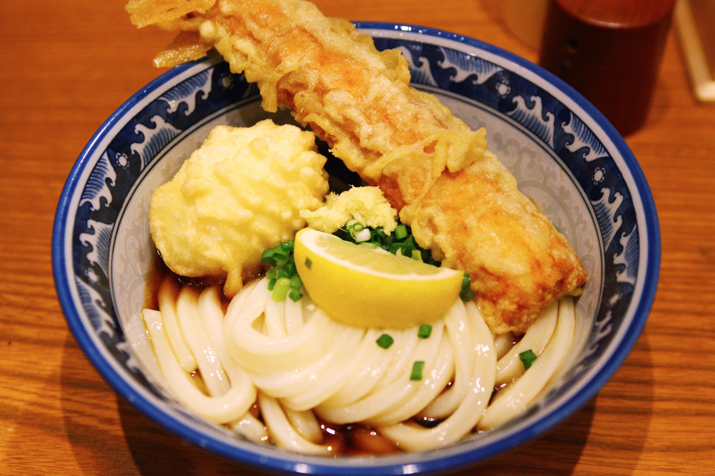 Slurp a bowl of kama-age udon...