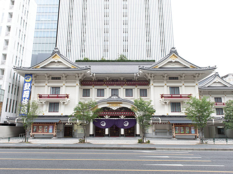 Watch a traditional show at Kabukiza Theatre