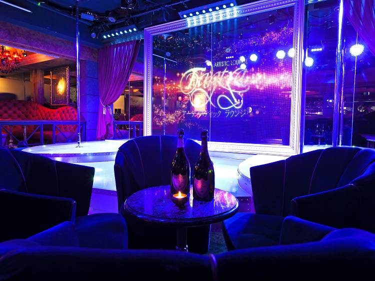 Experience a Japanese-style cabaret club