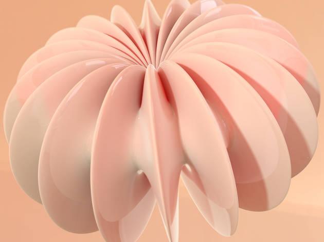 森野和馬「PINK SKIN」展 ー 動く仮想物体の必然と偶然がもたらす3D映像から平面作品まで vol.2 ×Ken Ishii