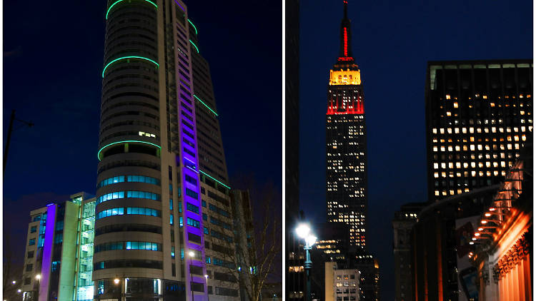 Bridgewater Place and the Empire State Building