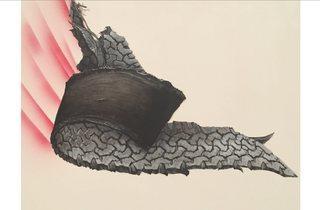 ('Flying Gator #1' (detail) by Ed Ruscha)