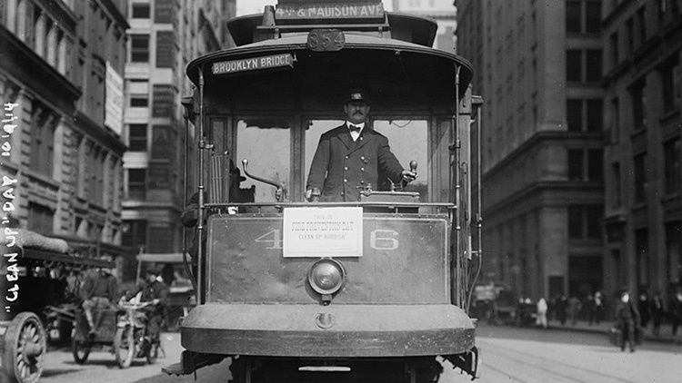 Check out these historical photos of NYC's subway cars and buses