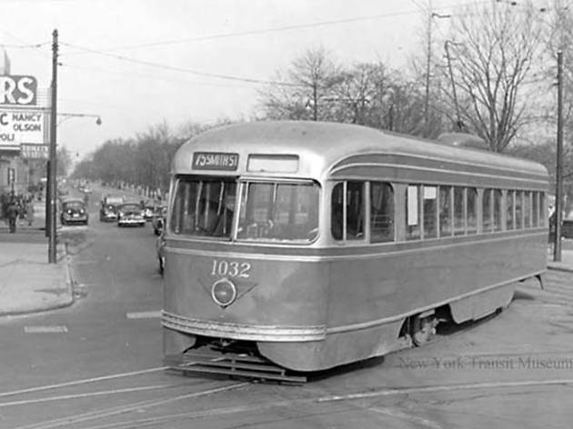 1951, Trolley at Propsect Park West and 15th Street
