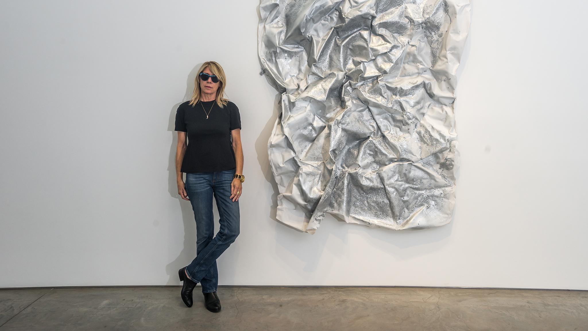 See Kim Gordon's artworks now on view in Chelsea