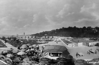 1930s postcard of Genève-Plage