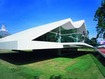 Serpentine Gallery Pavilion 2003 Designed by Oscar Niemeyer Photograph