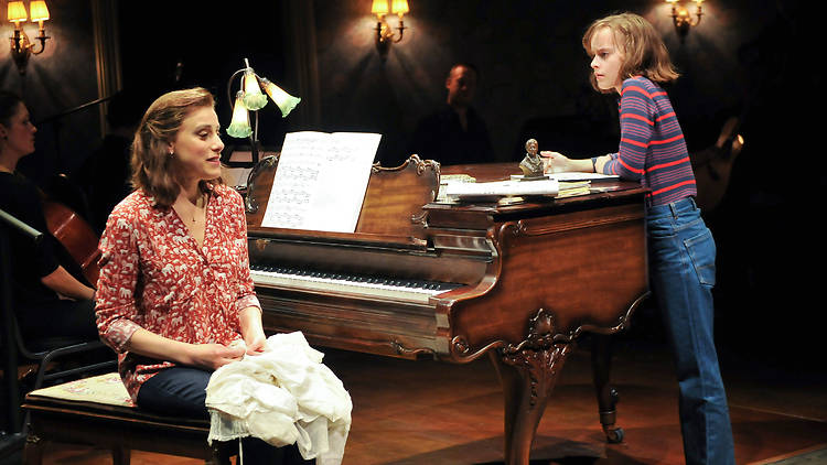 Judy Kuhn and Sydney Lucas in Fun Home