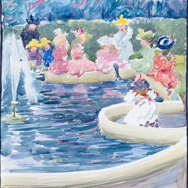"""Maurice Prendergast: Boston Public Garden Watercolors"""