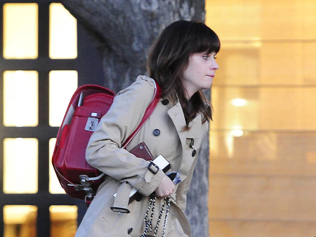 EXCLUSIVE: Zooey Deschanel leaving hair salon in Beverly Hills, CA