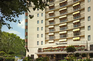 Exterior shot of The Dorchester hotel, on Park Lane