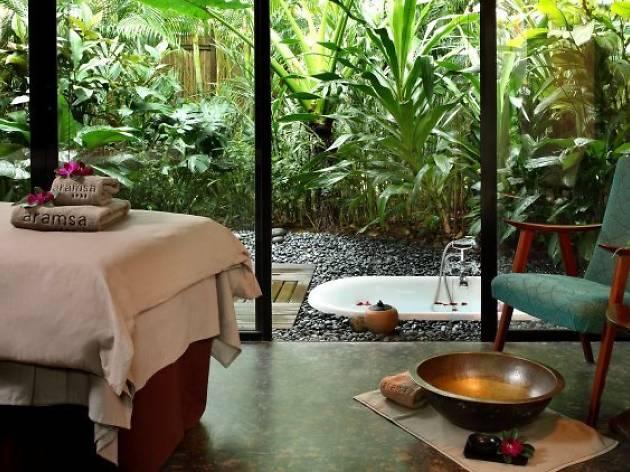 Get a late-night garden massage