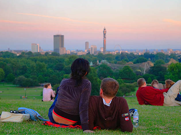 primrose hill, sunset