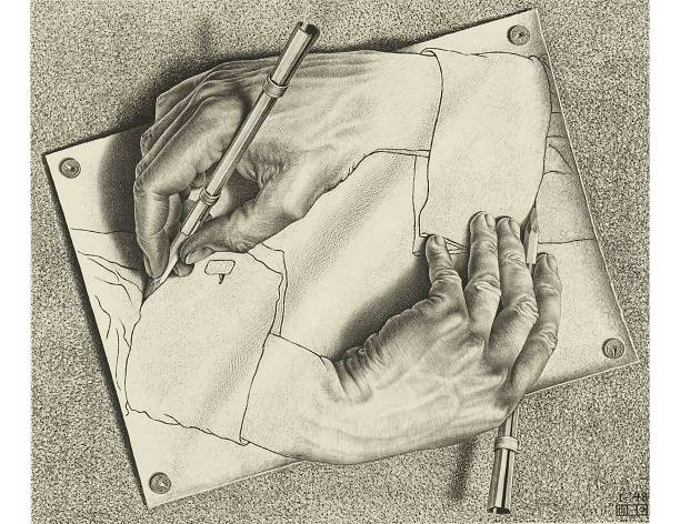 MC Escher, Drawing Hands