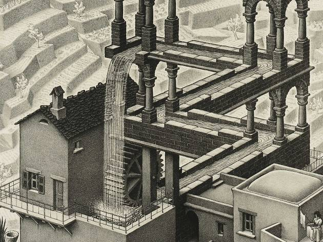 MC Escher, waterfall