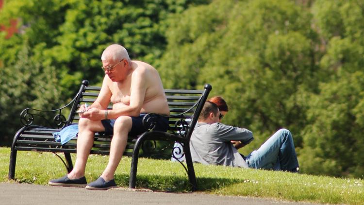 Sunbathe in the park
