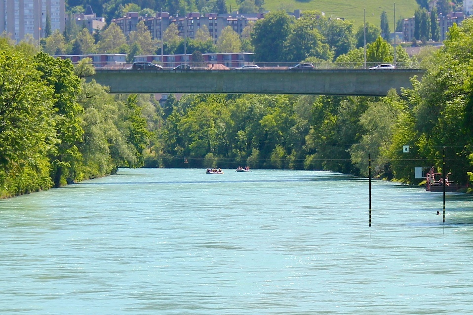 Rafting along the River Aare