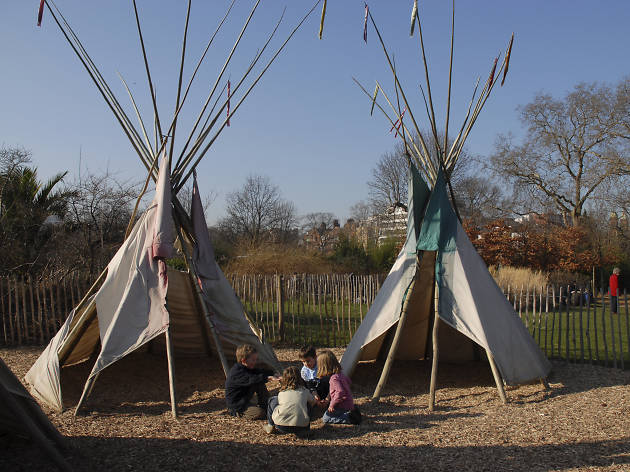Commandeer a wigwam at the Diana Memorial Playground
