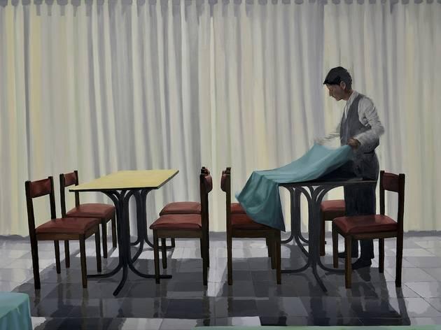(My Buenos Aires / Ariel Cusnir, 'Tareas, del proyecto Un Restaurante', 2013 / Huile sur toile / Collection privée)