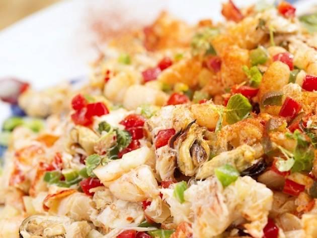 UNA seafood salad