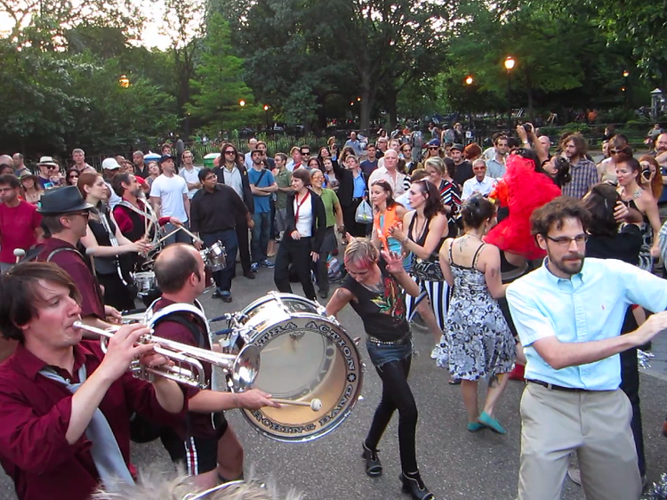 5–7pm Percussia: Echoing Drums at 40th Street MTA parking lot, Queens