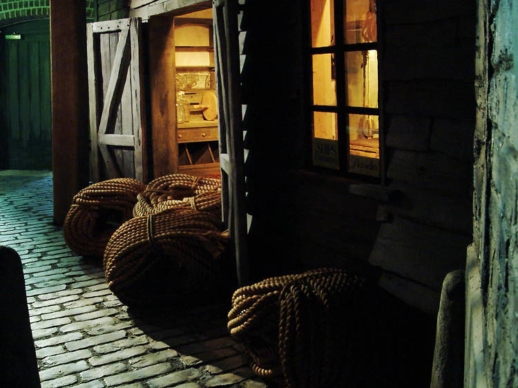 Visit the (deliberately) stinky streets and dark alleyways of Sailortown at the Museum of London Docklands