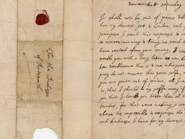 (Love Letter from Charles II to Louis de Keroualle, 1675 © The Trustees of the Goodwood Collection)