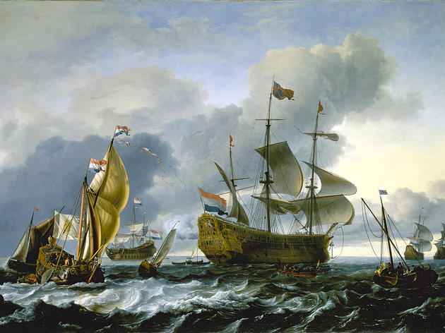 (Dutch attack on the Medway, The Royal Charles carried into Dutch Waters, 12 June 1667, Ludolf Backhuysen, 1667 © National Maritime Museum, London)