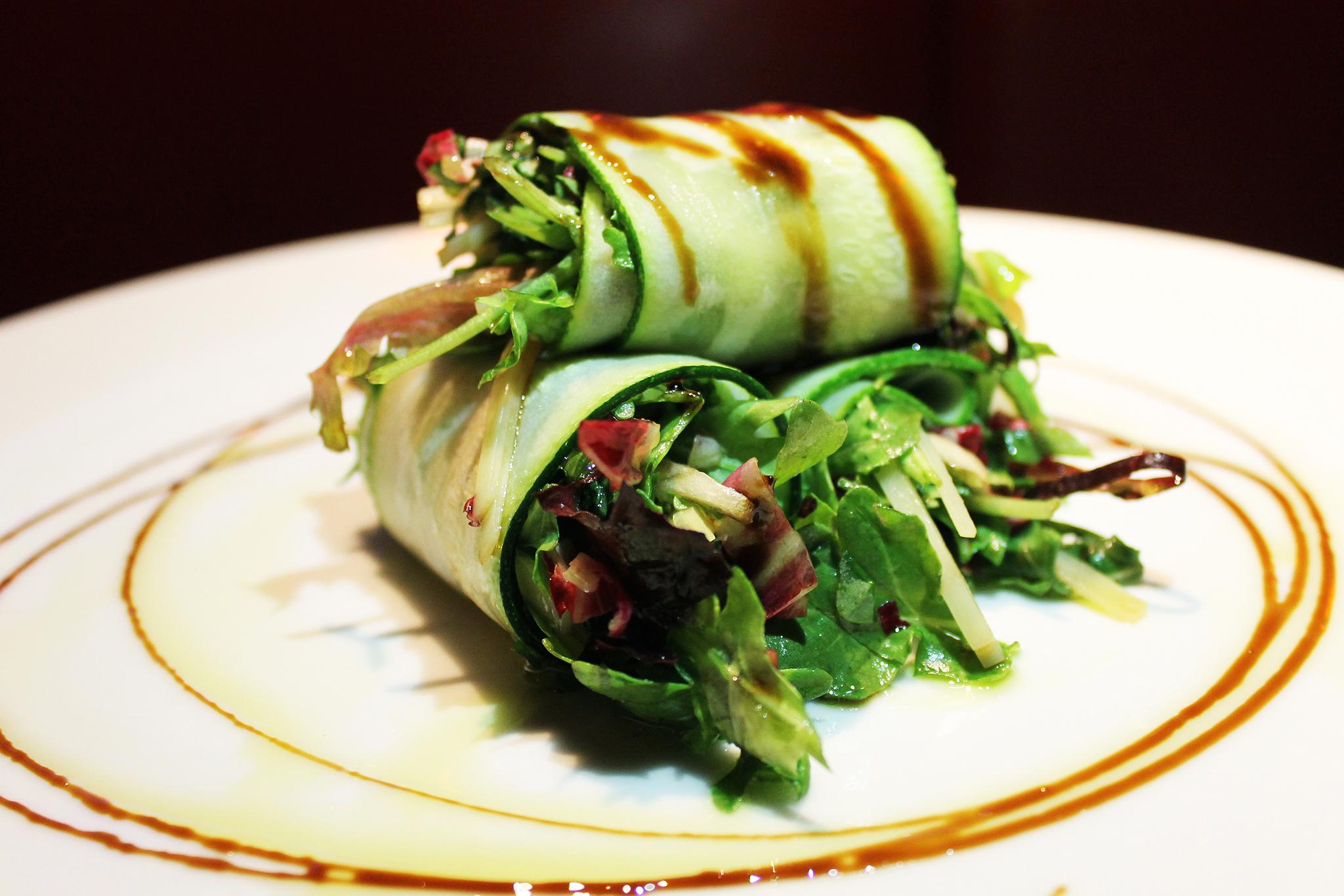 Zucchini rollup at Café Prima Pasta