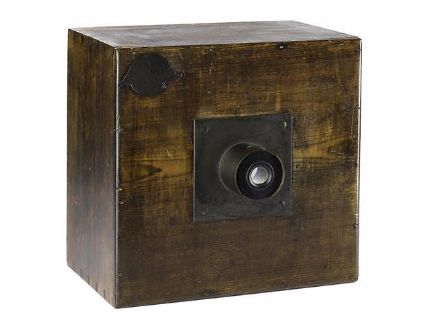 Talbot's home-made camera, 1840s: some of his early equipment appears to have been constructed to his design by the estate carpenter.
