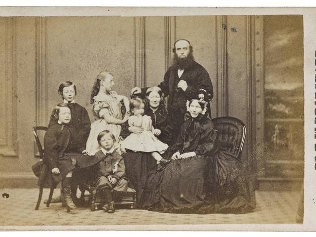 Dr E W Pritchard, His Wife, Mother-in-Law and Family, by Cramb Brothers, of Glasgow, 1865, carte-de-visite.