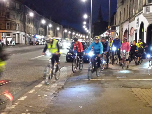 Edinburgh night ride
