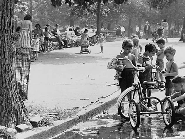 August 3, 1948, Children with tricycles in Washington Square