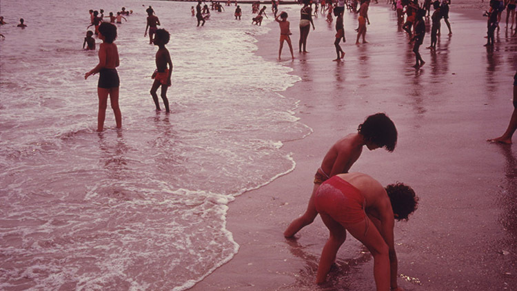 1974, Children at the Beach in Reis Park, Brooklyn