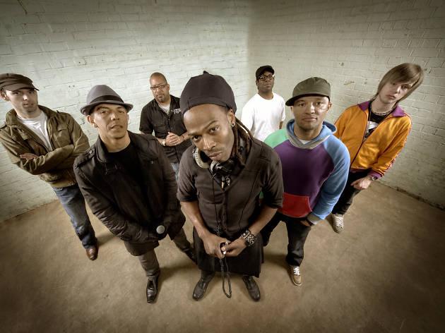 Group shot of Bristol band Laid Blak