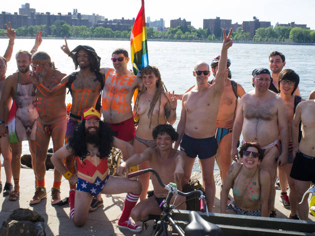 See cheeky NSFW photos from the NYC World Naked Bike Ride 2015